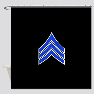 Police Sergeant (Blue) Shower Curtain