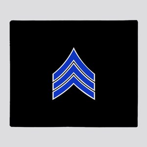Police Sergeant (Blue) Throw Blanket
