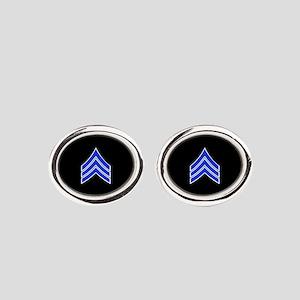 Police Sergeant (Blue) Oval Cufflinks