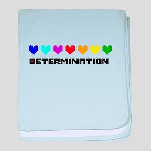 Determination Hearts - Blk baby blanket