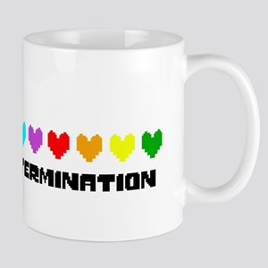 Determination Hearts - Blk Mugs