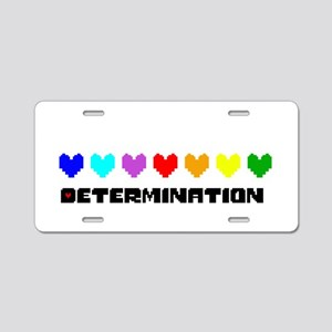 Determination Hearts - Blk Aluminum License Plate