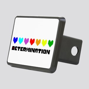 Determination Hearts - Blk Rectangular Hitch Cover