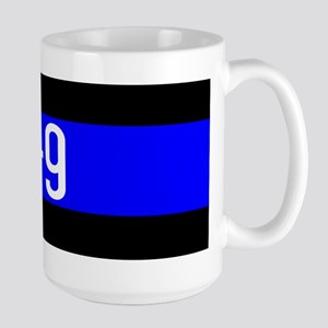 Police K-9 (Thin Blue Line) Large Mug