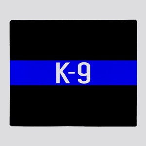 Police K-9 (Thin Blue Line) Throw Blanket