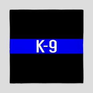 Police K-9 (Thin Blue Line) Queen Duvet