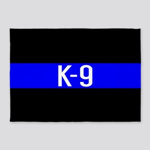 Police K-9 (Thin Blue Line) 5'x7'Area Rug