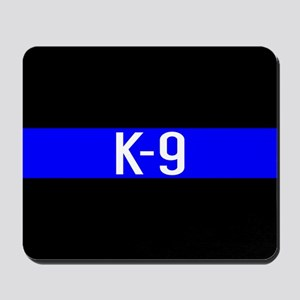 Police K-9 (Thin Blue Line) Mousepad