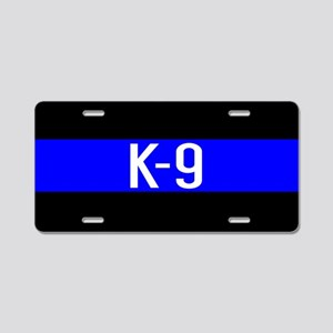 Police K-9 (Thin Blue Line) Aluminum License Plate