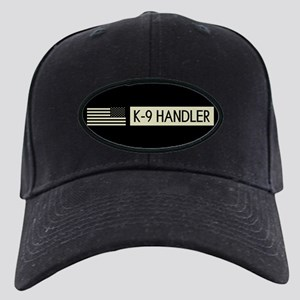 K-9 Handler (Black Flag) Black Cap with Patch