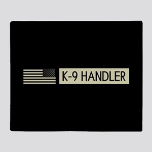 K-9 Handler (Black Flag) Throw Blanket