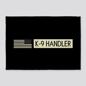 K-9 Handler (Black Flag) 5'x7'Area Rug