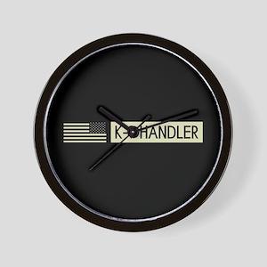 K-9 Handler (Black Flag) Wall Clock