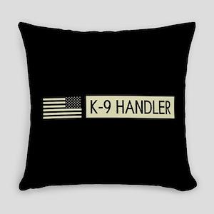 K-9 Handler (Black Flag) Everyday Pillow
