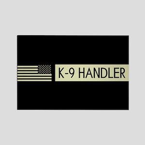 K-9 Handler (Black Flag) Rectangle Magnet