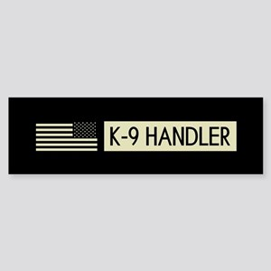 K-9 Handler (Black Flag) Sticker (Bumper)