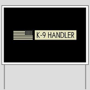 K-9 Handler (Black Flag) Yard Sign
