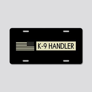 K-9 Handler (Black Flag) Aluminum License Plate