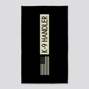 K-9 Handler (Black Flag) Area Rug