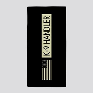 K-9 Handler (Black Flag) Beach Towel