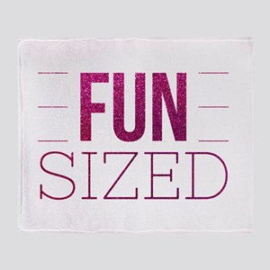 Fun Sized Motivational Glitter Quote Throw Blanket