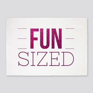 Fun Sized Motivational Glitter Quot 5'x7'Area Rug