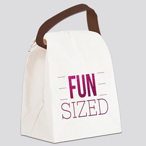Fun Sized Motivational Glitter Qu Canvas Lunch Bag