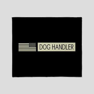 Dog Handler (Black Flag) Throw Blanket