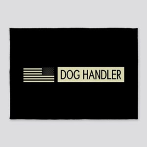 Dog Handler (Black Flag) 5'x7'Area Rug