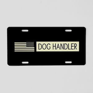 Dog Handler (Black Flag) Aluminum License Plate