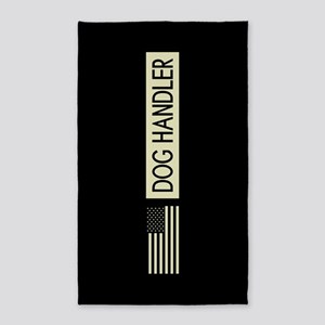 Dog Handler (Black Flag) Area Rug