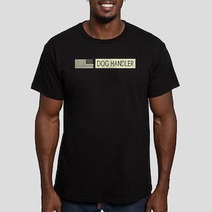 Dog Handler (Black Fla Men's Fitted T-Shirt (dark)