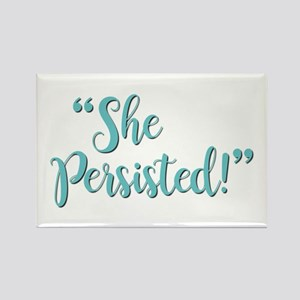 SHE PERSISTED! Rectangle Magnet