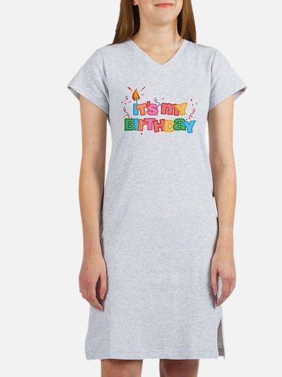 It's My Birthday Letters Women's Nightshirt