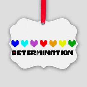 Determination Hearts - Blk Picture Ornament