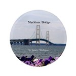 Mackinaw Bridge St. Ignace Spring Button