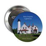 "Point Iroquois Lighthouse 2.25"" Button"