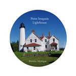 Point Iroquois Lighthouse Button