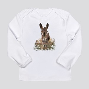 Bad Ass Fun Donkey Humor Quote Long Sleeve T-Shirt