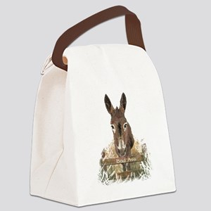 Bad Ass Fun Donkey Humor Quote Canvas Lunch Bag
