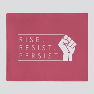 Rise. Resist. Persist. Throw Blanket
