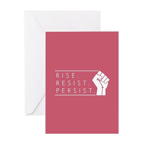 Rise. Resist. Persist. Greeting Card