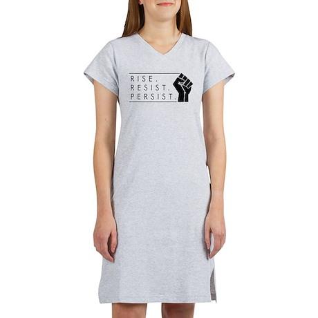 Rise. Resist. Persist. Women's Nightshirt