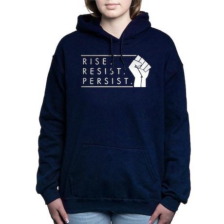 Rise. Resist. Persist. Women's Hooded Sweatshirt