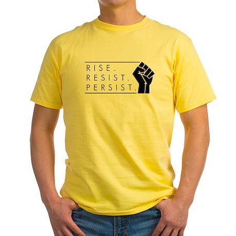 Rise. Resist. Persist. Yellow T-Shirt