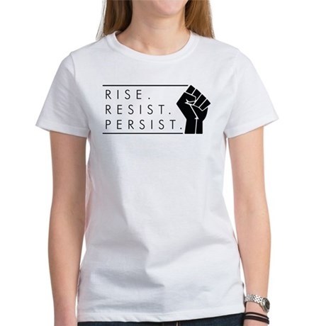 Rise. Resist. Persis Women's Classic White T-Shirt