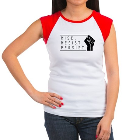 Rise. Resist. Persist. Junior's Cap Sleeve T-Shirt