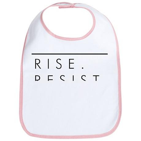 Rise. Resist. Persist. Cotton Baby Bib