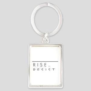 Rise. Resist. Persist. Portrait Keychain