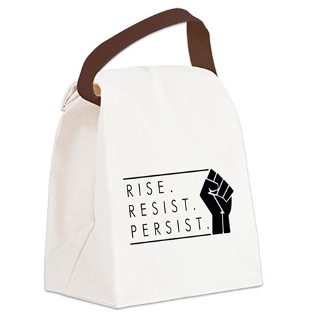 Rise. Resist. Persist. Canvas Lunch Bag
